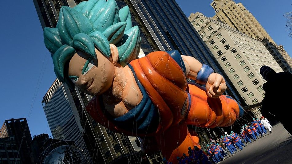 Dragon Ball Hero Goku Makes Premiere At Macys Thanksgiving Day Parade Macy S Thanksgiving Day Parade Macy S Thanksgiving Day Parade Thanksgiving Day Parade
