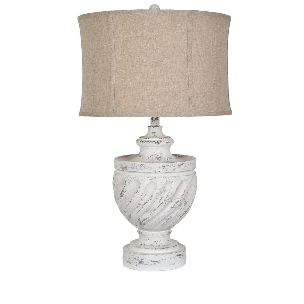 Swirled 29 Antique White Table Lamp N A In 2020 White Table Lamp Table Lamp Cool Floor Lamps