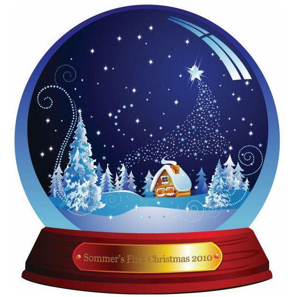 Custom Snow Globe 12 X 12 Paper 3 50 Liked On Polyvore Christmas Snow Globes Snow Globes Custom Snow Globe