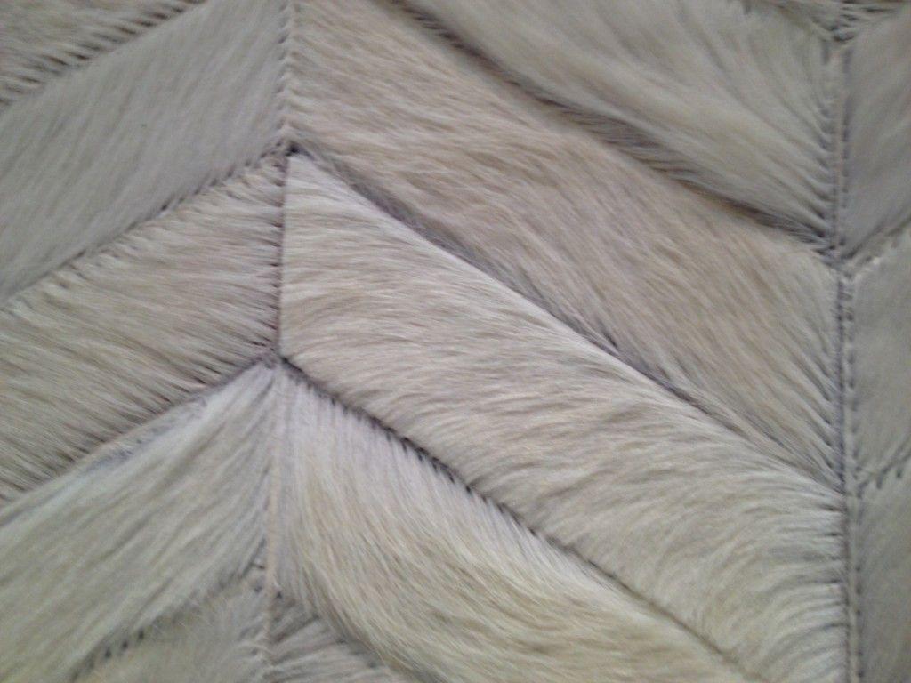 Chevron Horse Hair Rug