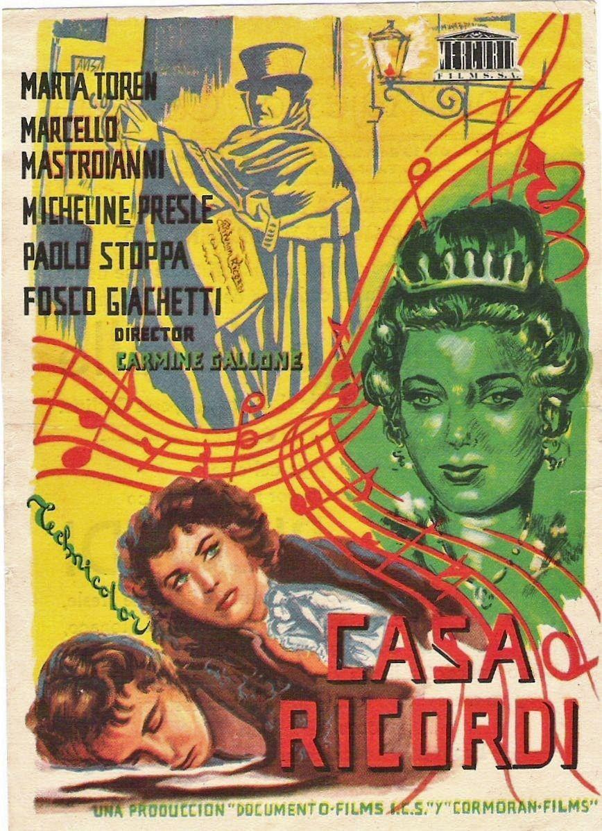 Casa Ricordi 1954 De Carmine Gallone Tt0046833 Carteles De Peliculas Carteles De Cine Cine Italiano