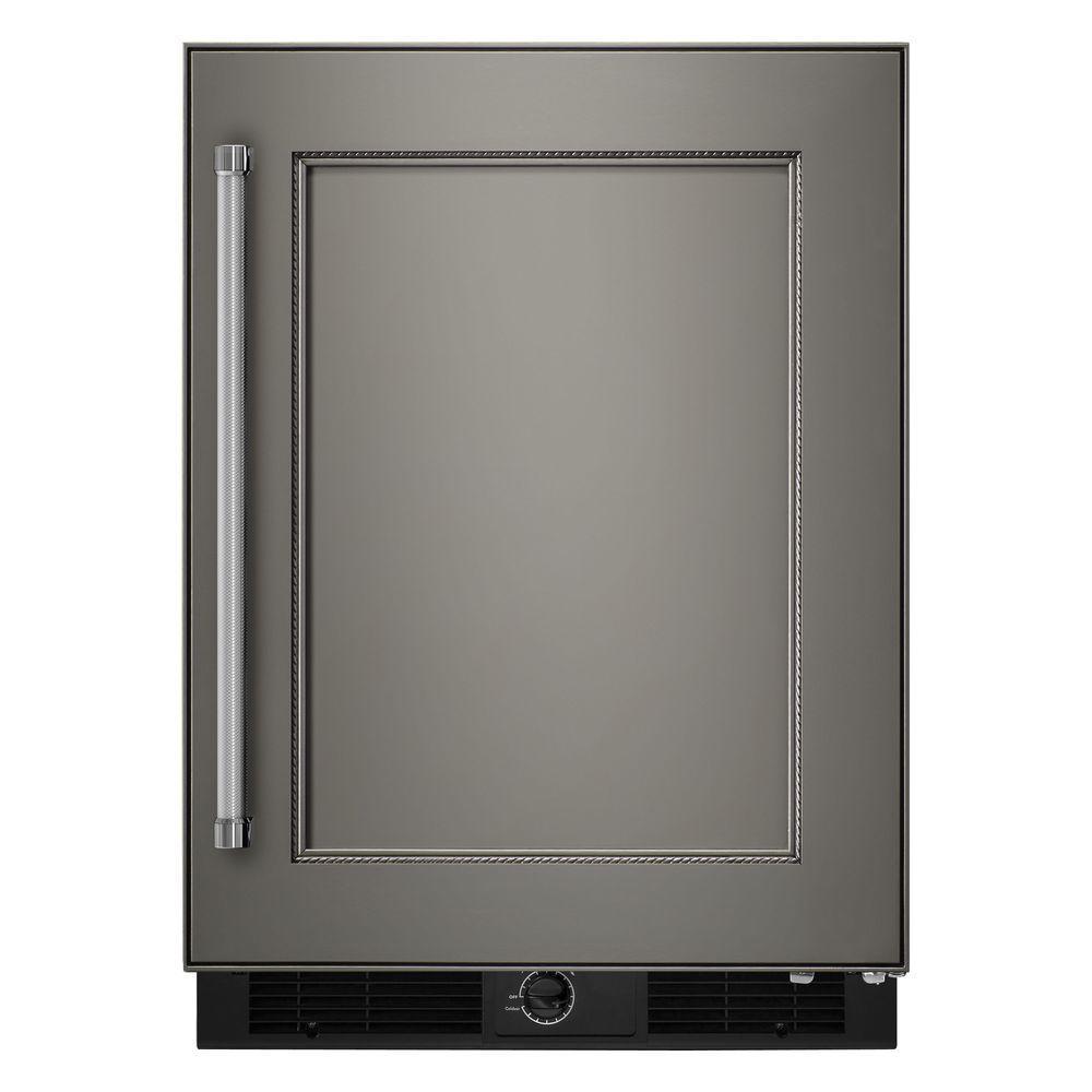 Kitchenaid 4 9 Cu Ft Mini Refrigerator In Undercounter Refrigerator Refrigerator Panels Kitchen Aid