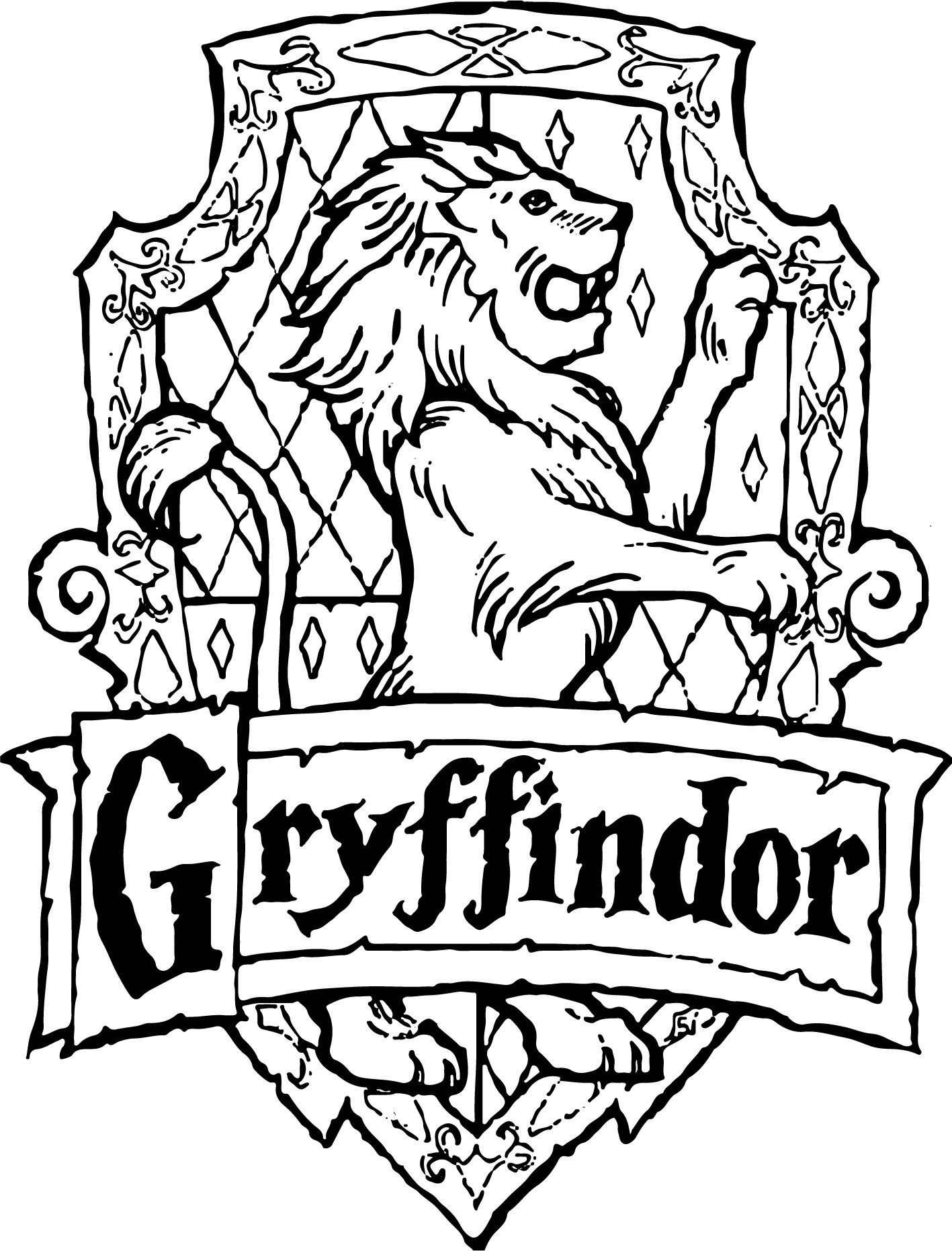 Gryffindor Svg Crest Emblem Badge Svg Harry Potter Hogwart S House