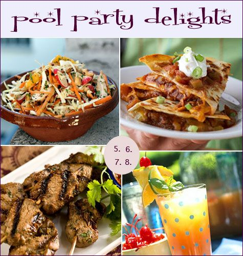 Main Dishes In A Party: Summer Fun: A Posh Pool Party-the Food(Main Course