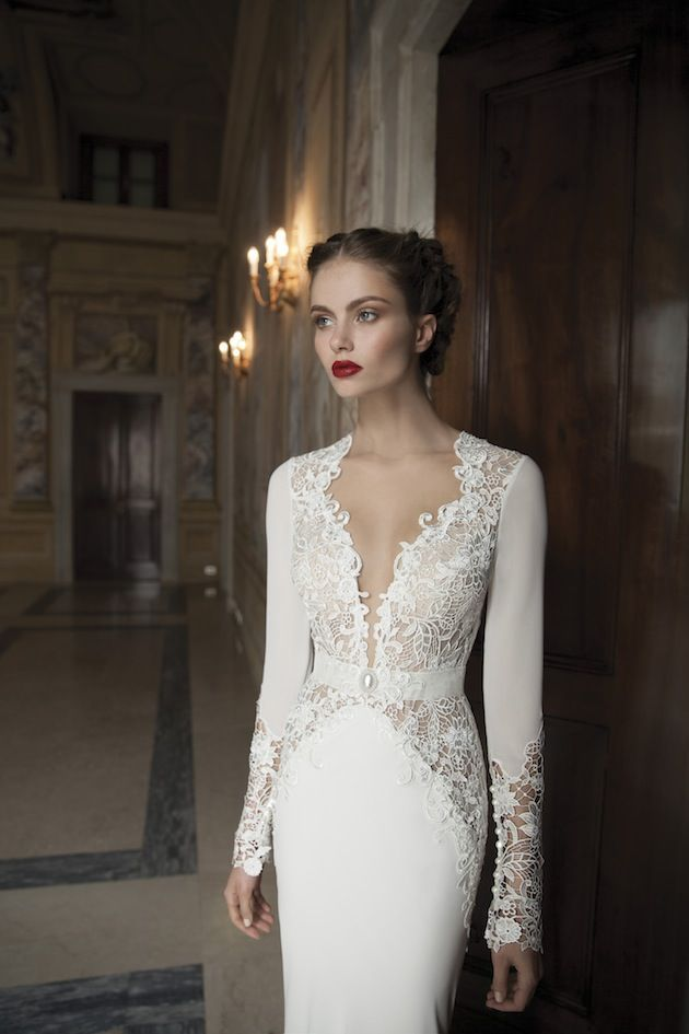 Stunning Fitted Wedding Dresses EBD Sexy Sleeves