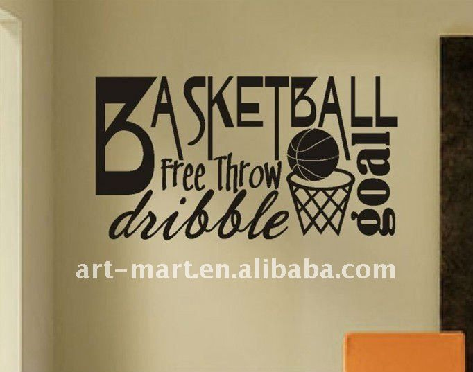 Word Art For Walls basketball word collage, basketball quote, vinyl wall lettering