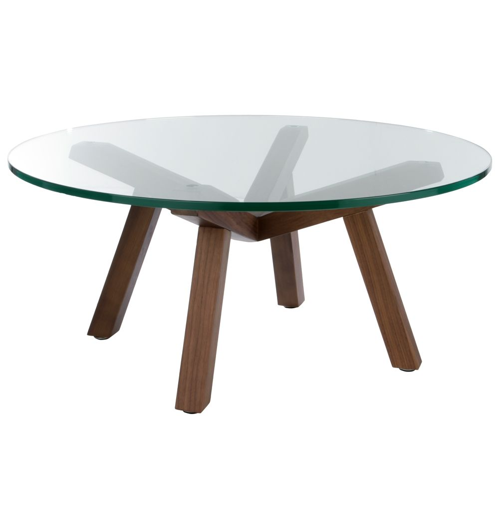 Round Coffee Table Standard Size: ORIGINAL Sean Dix Forte Coffee Table Round Glass