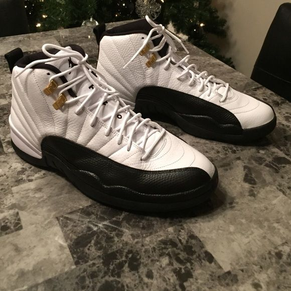 """Jordan 12 """"taxi"""" Jump man still intact. Tried shoes on, bought them, never wore again! Don't have box as I store my stuff in plastic bins. I am an avid shoe collector... Just freeing space!!! Jordan Shoes Sneakers"""