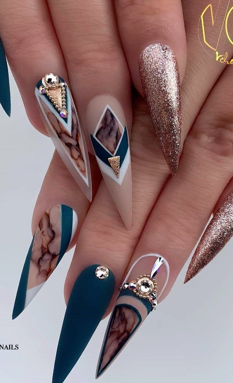 101 Want To See New Nail Art These Nail Designs Are Really Great Page 19 Of 101 Womens Ideas Almond Acrylic Nails Nail Designs Stiletto Nails