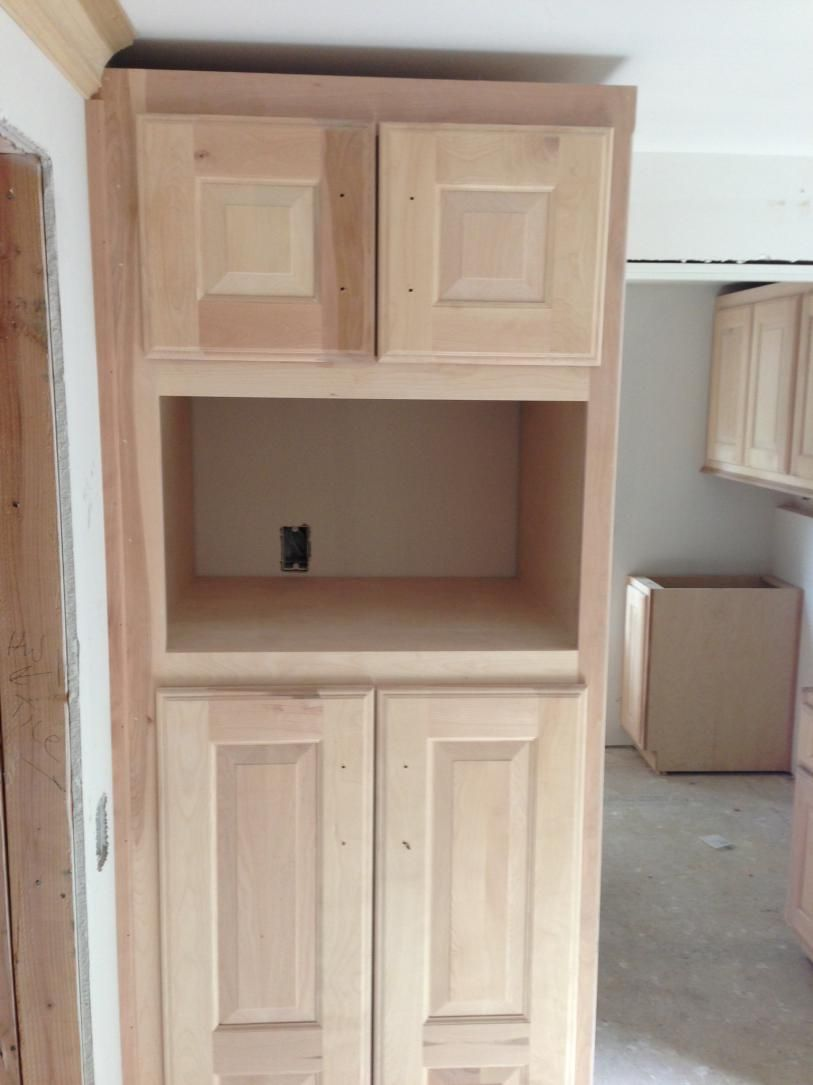 Start Of The Cabinets Village Cape Cod Microwave In Kitchen Microwave Cabinet Kitchen Pantry Cabinets