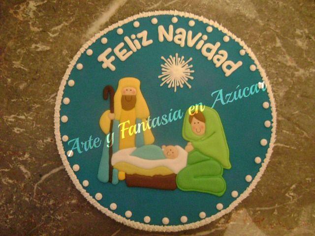Galleta decorada gigante de 30 centímetros de diámetro para el mejor regalo de navidad. arteyfantasiaenazucar@hotmail.com