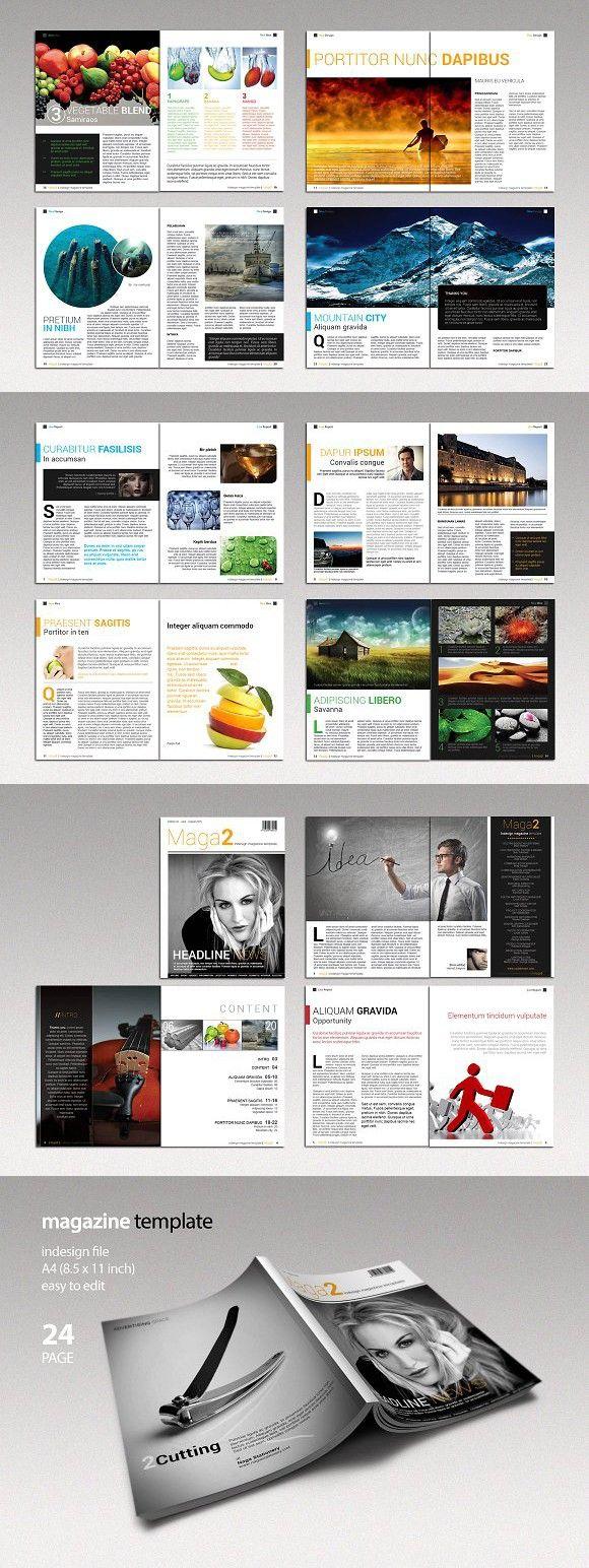 Indesign Magazine Template | Banner design | Pinterest | Diseño ...