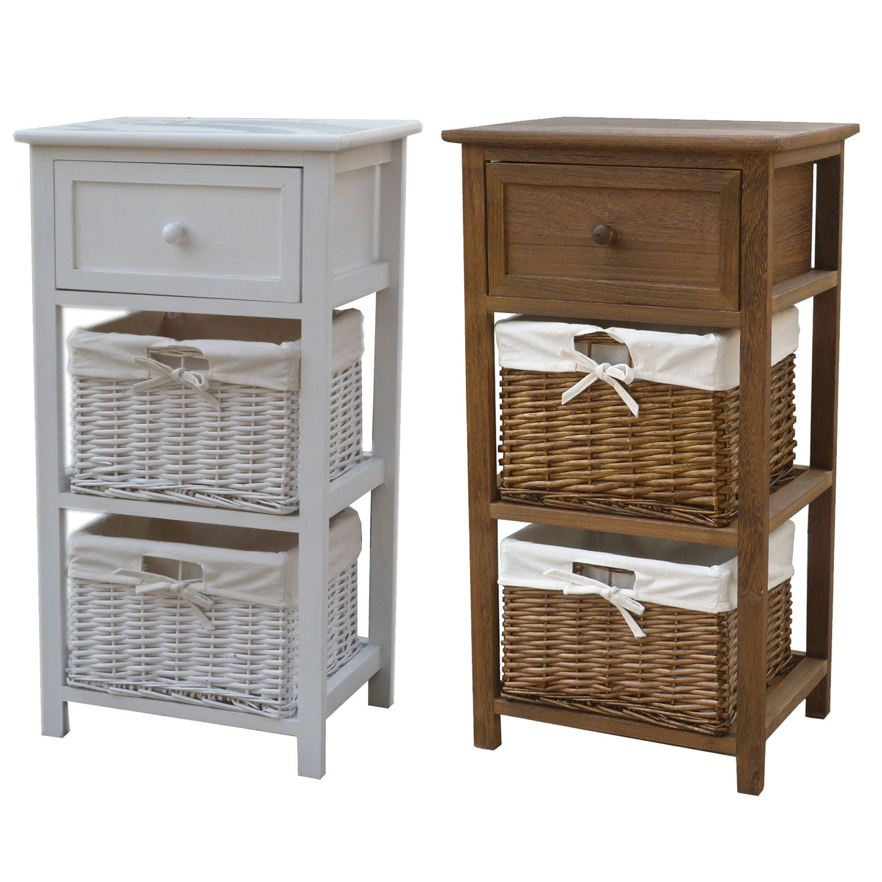 This Bentley Home Cosy Storage Unit In White Or Natural Wood Is