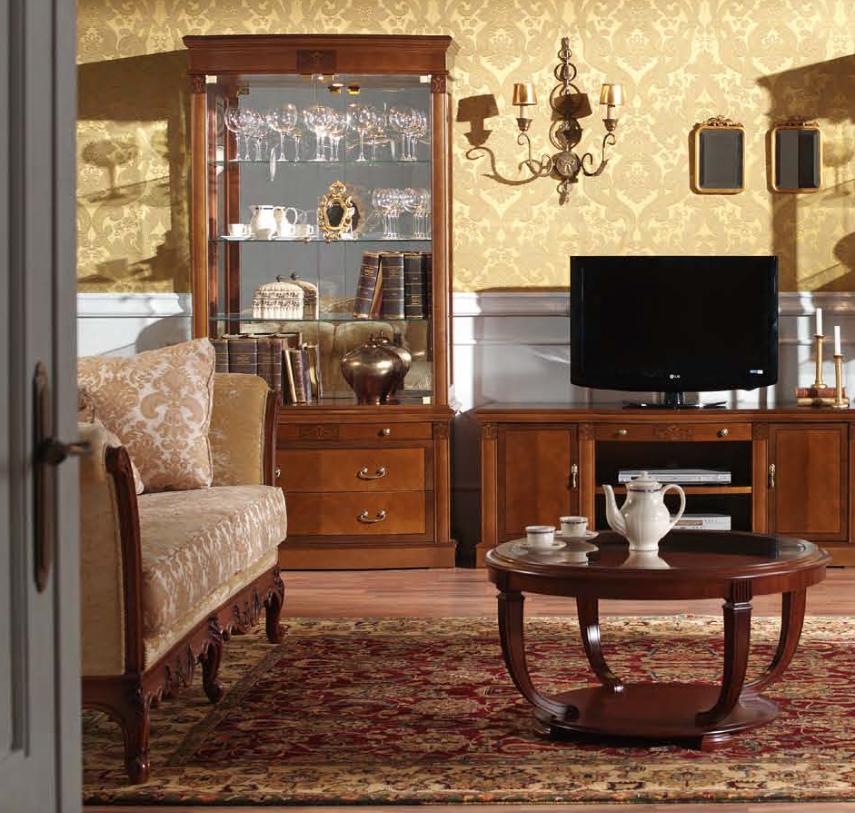 italienische Wohnzimmermöbel, wertig und massiv Nussbaum