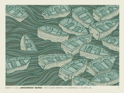 Andrew Bird Atlanta concert poster by Methane Studios