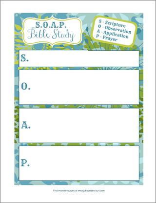 S.O.A.P. Bible Study Form Printable. Beautiful plan sheets ...