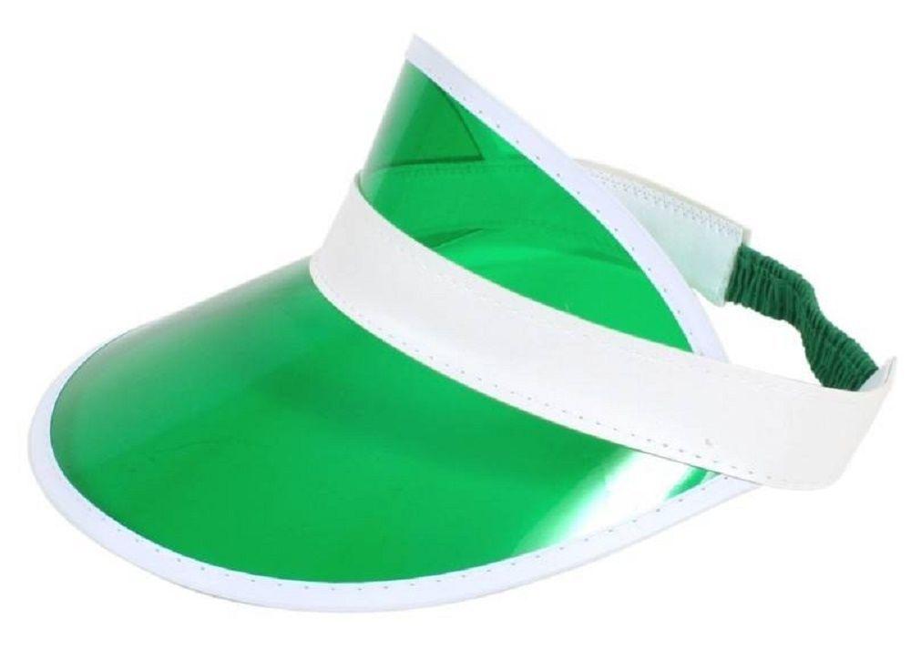 Unisex Adult Funny Green Eye Shade Plastic Elastic Adjustable Costume Visor Hat