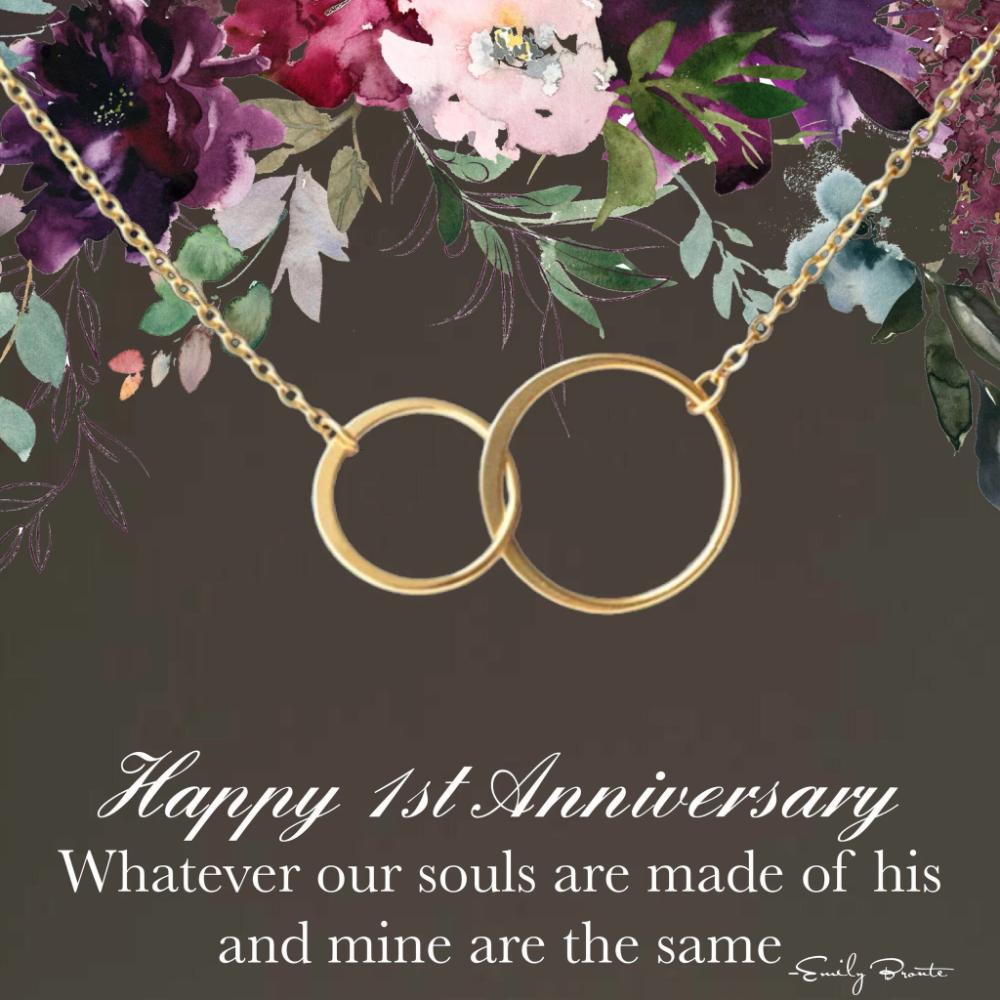 1st Anniversary Gift 1 Year Anniversary Happy Anniversary Wife Necklace Wedding Anniversary Wife Gift Wife Jewelry Anniversary Jewelry With Images Happy Anniversary Wife 20th Anniversary Gifts Girlfriend Anniversary Gifts