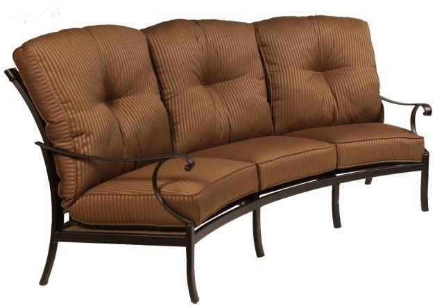 Alumont Catalina Collection Crescent Sofa Backyard Furniture Yard