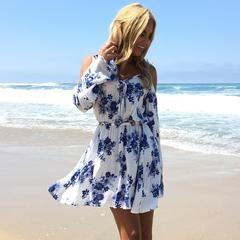 Sea Bloom Floral Dress