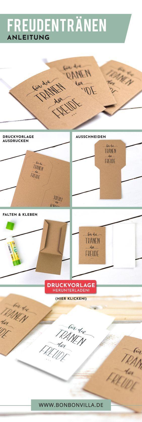 Ebook Taschentücher für die Freudentränen - Bonbon Villa #bastelnanleitung