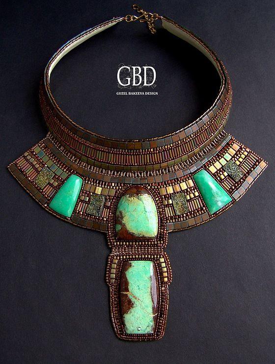Guzel Bakeeva  Love this beadwork... gotta have jewelry
