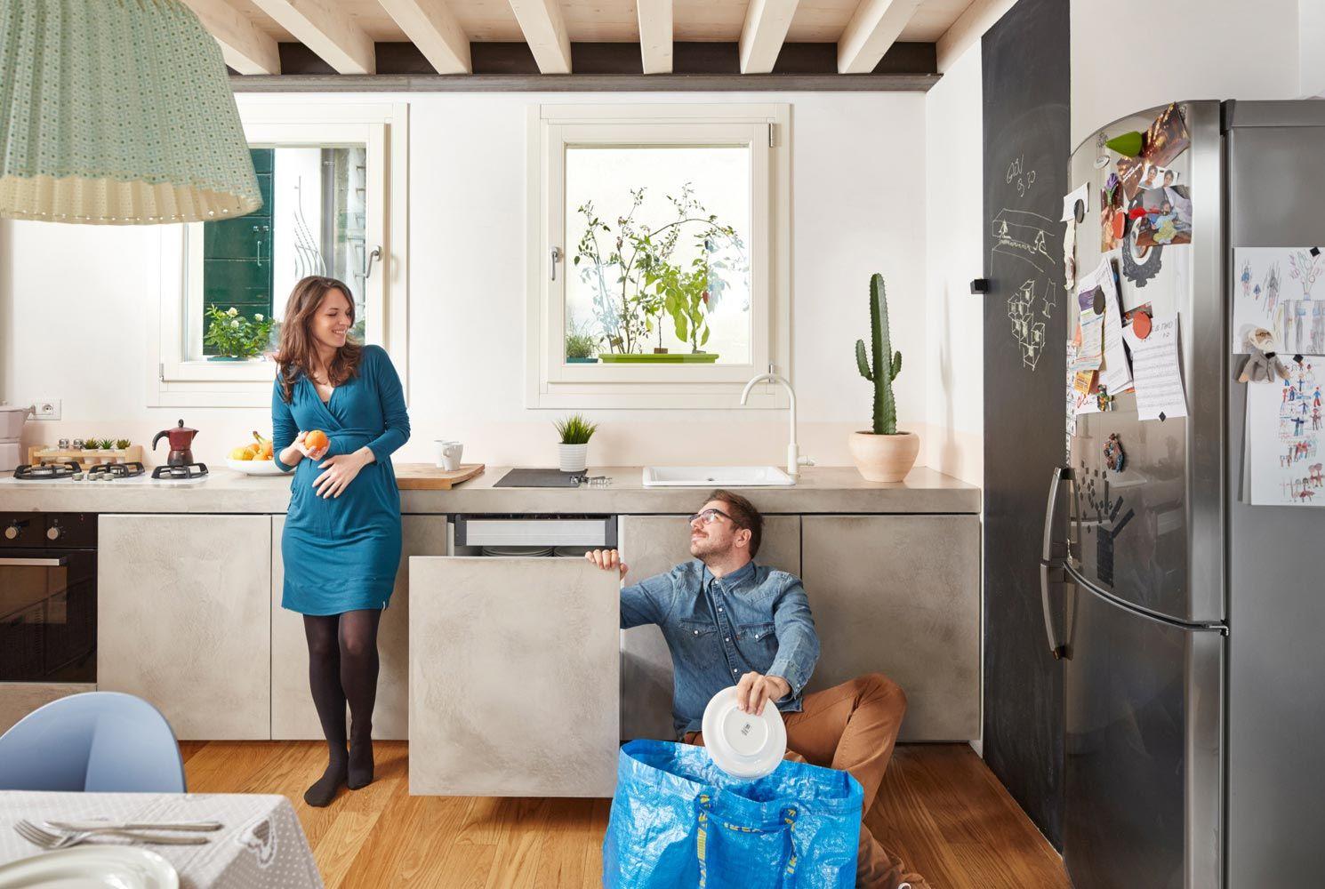 Rivestimento cucina moderna senza piastrelle - Microtopping ...