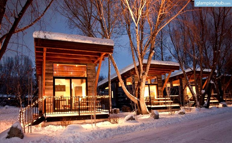 Uninque Luxury Cabins Wyoming Cabins Teton National Park Tiny House Community Resort Cabins Park Model Homes