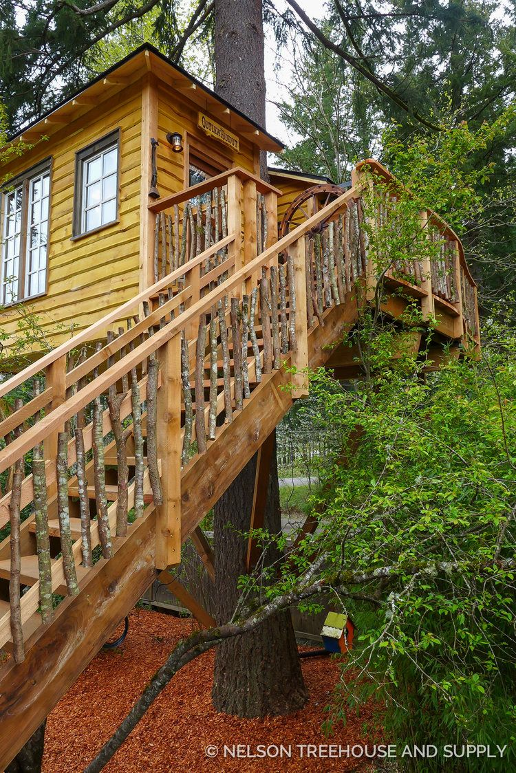 High Noon Saloon Treehouse Nelson Treehouse In 2020 Tree House Cool Tree Houses Fairytale House