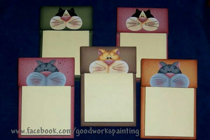 Kitty notepad holders