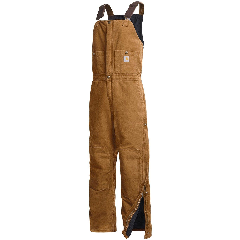 carhartt sandstone bib overalls insulated for women in on womens insulated bib overalls id=50473