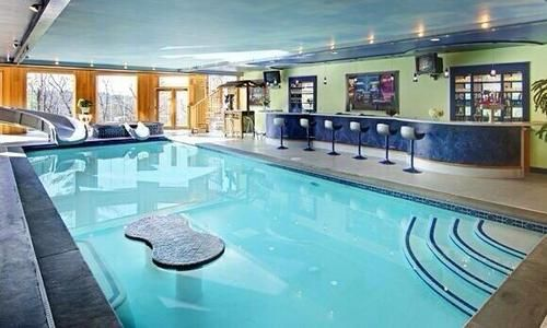 awesome indoor pool inside luxury mansion apartment