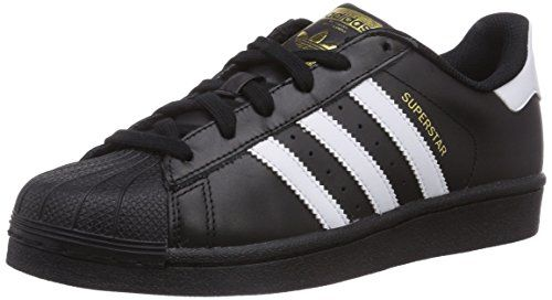 buy popular bd3c8 6321c adidas Superstar Schwarz + weiße Streifen Größe 36 2 3 - Achtung   Kindergrößen sind