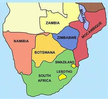 Southern Africa Map Picture Geography Pinterest Map Pictures - South africa map countries