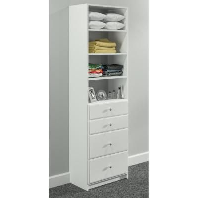 Create A Built In Dresser Your Closet With This White Drawer And Shelving Tower Kit From Simplyneu