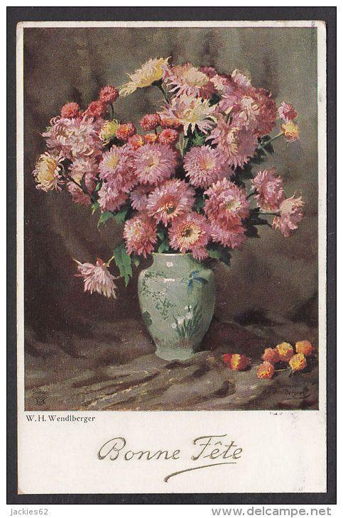 23546/ W.H. WENDLBERGER, Fleurs, 1934, 2 scans
