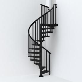 Best Arke Sky030 55 In X 10 Ft Black Spiral Staircase Kit 400 x 300