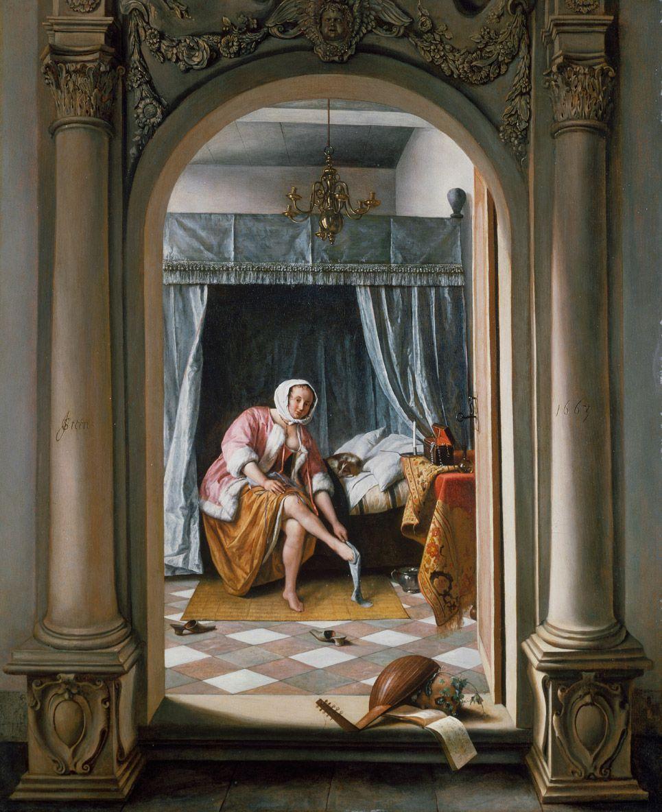 Jan Steen, Vrouw in een slaapkamer, 1663, Royal Collection Trust / © Her Majesty Queen Elizabeth II 2016