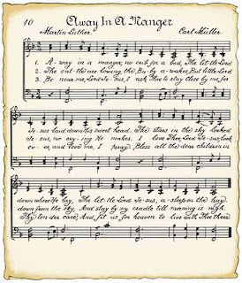 graphic about Printable Christmas Sheet Music referred to as Cost-free Printable Xmas Sheet audio - Absent inside of A Manger