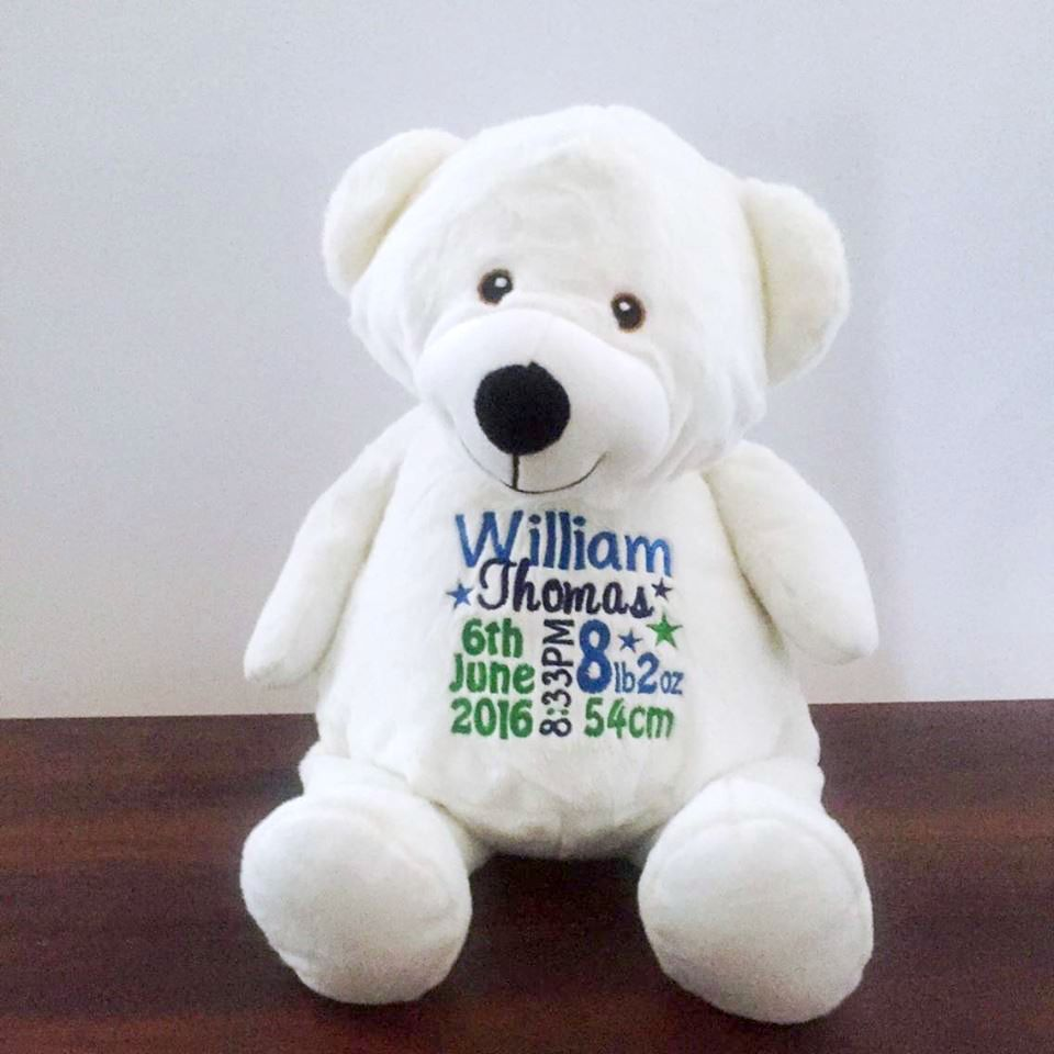 Personalised New Baby Gifts Australia : Personalised teddy bear baby gift new