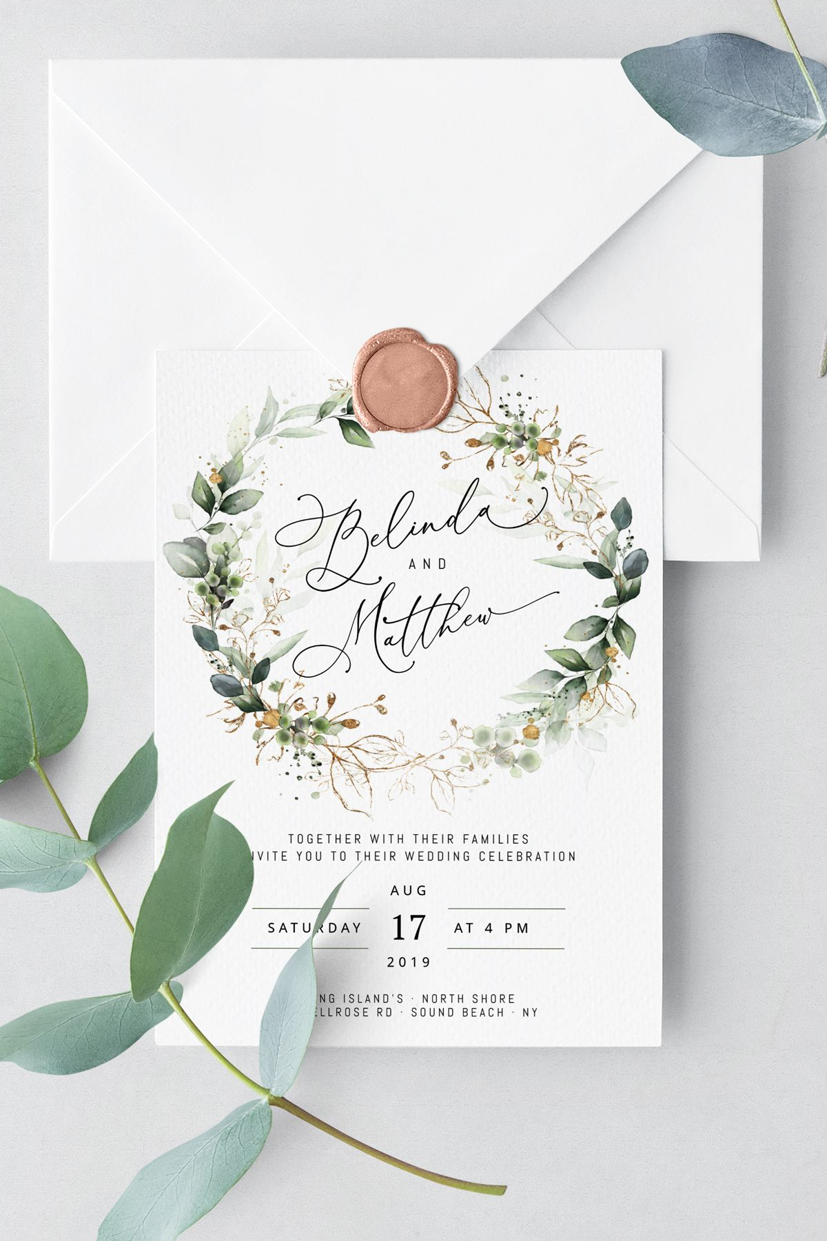 CLEO Wedding Invitation Template Boho Wedding Invite  Etsy  Free
