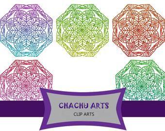 7 Mandala design clip art, Freebies,commercial use,rainbow color mandalas, gold mandala,black Mandala,PNG files,transparent background,JPEG
