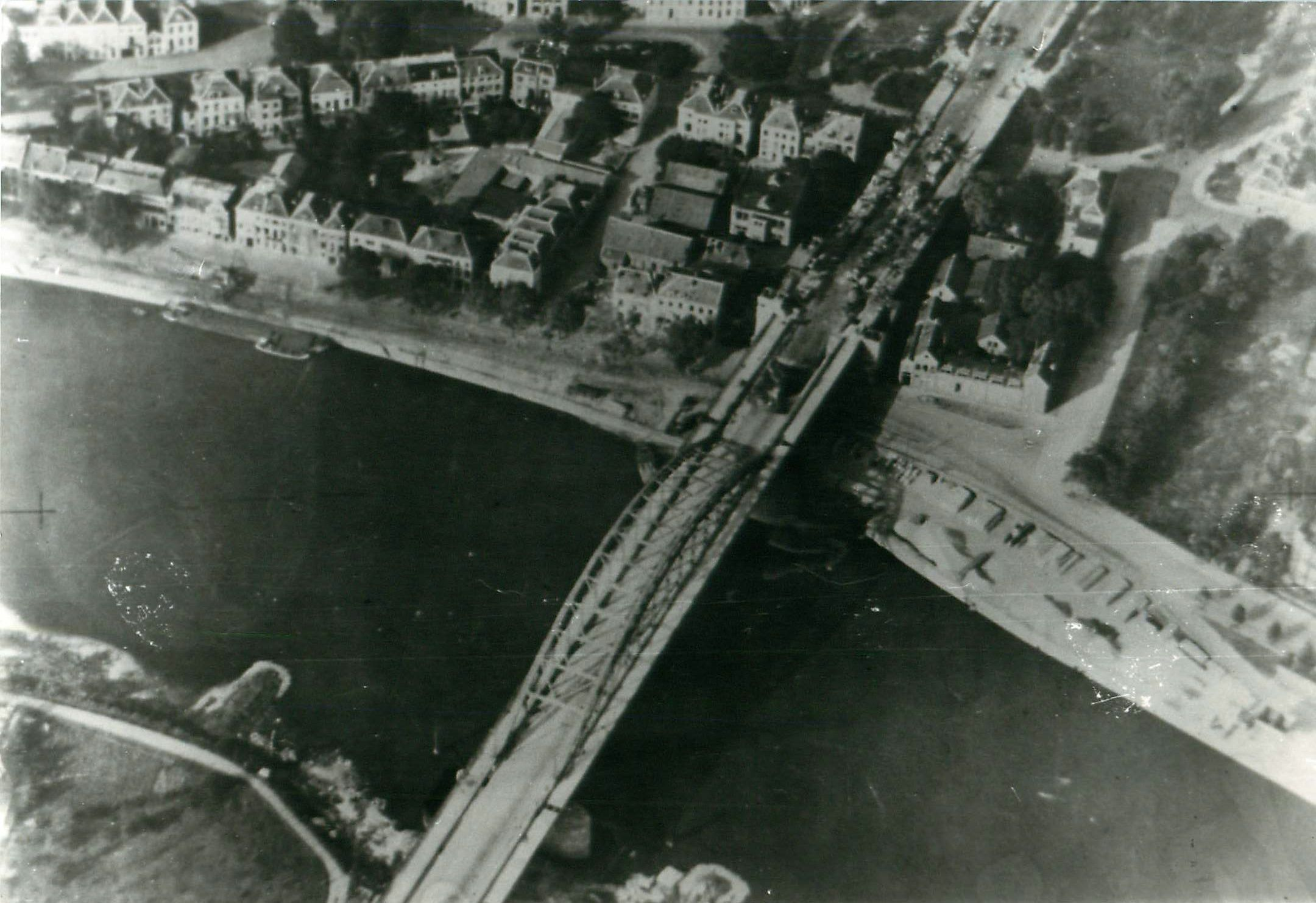 Aerial View Of Arnhem Bridge Showing British Positions Copyright Airborne Assault Museum Duxford Operation Market Garden Market Garden World War