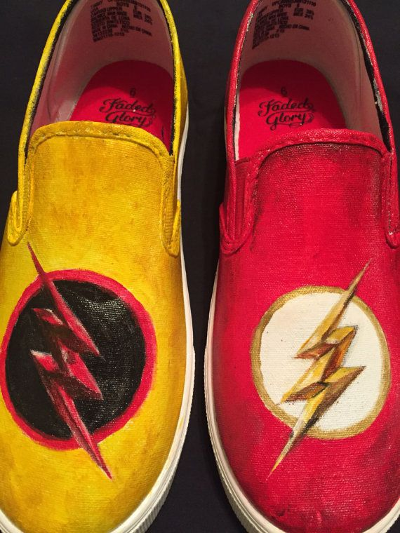 The Flash / Reverse Flash Shoes | Etsy
