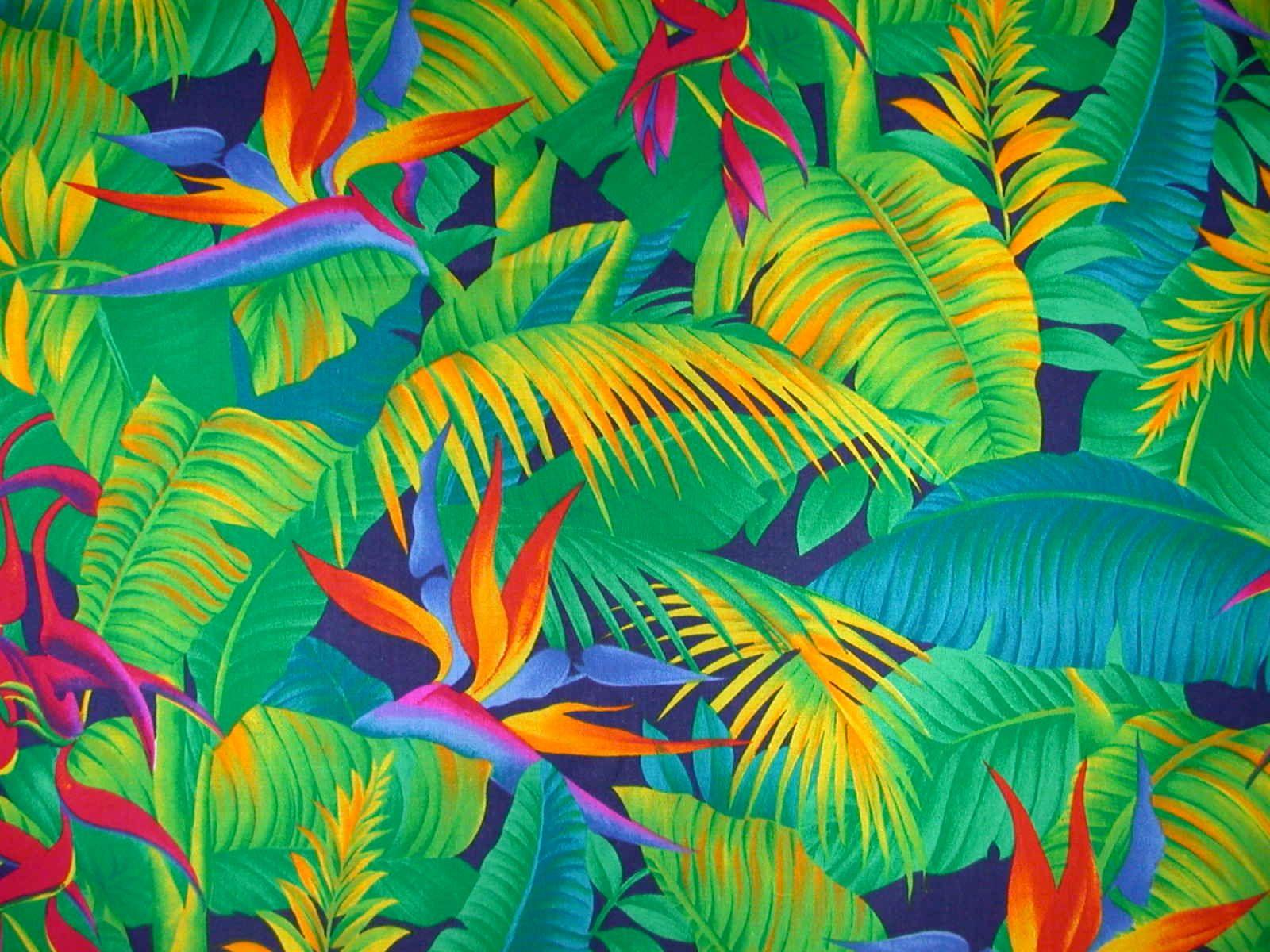 Hawaiian Print Flower Baby Bib tropical