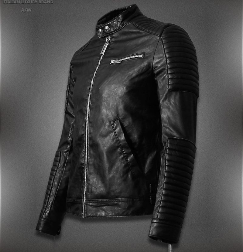 2015 Hot Sale Mens Leather Jackets And Coats Jaqueta De Couro ...