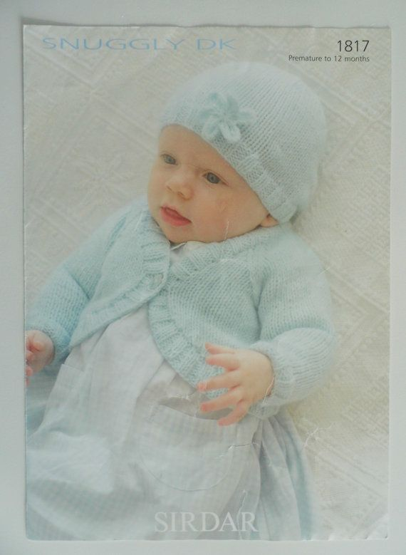 Knitting Pattern Baby Cardigan and Hat (premature to 12months ...
