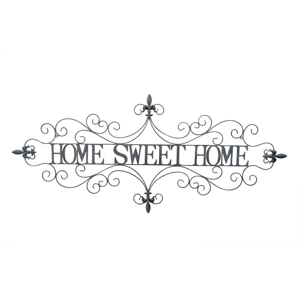 Three Hands Metal Sweet Home Wall Decor 70996 Home Wall Decor