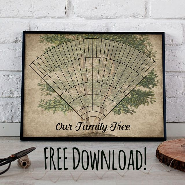 Free Download Printable 6 Generation Custom Family Tree Fan Chart