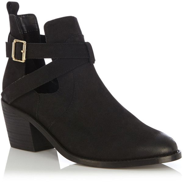 d23c255d2389 OASIS Kate Cut Out Ankle Boot ($65) ❤ liked on Polyvore featuring shoes,  boots, ankle booties, black, cutout ankle boots, cut out booties, cutout  bootie, ...